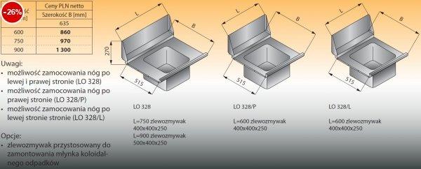 Płyta stołu przelotowego ze zlewozmywakiem lo 328 - 600x635 Lozamet