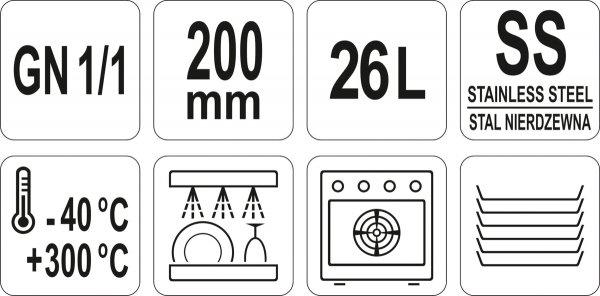 POJEMNIK GASTRONOMICZNY GN 1/1 200