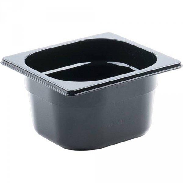 Pojemnik z poliwęglanu, czarny, GN 1/6, H 100 mm