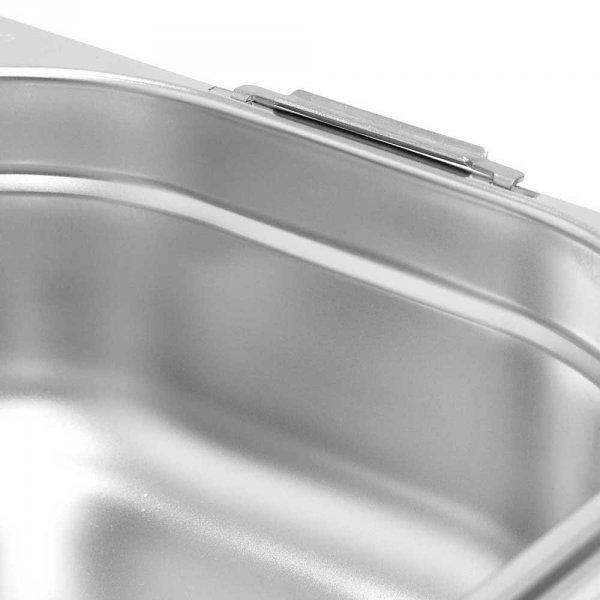 pojemnik stalowy z uchwytami, GN 1/1, H 150 mm