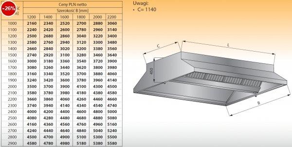 Okap centralny bez oświetlenia lo 911/1 - 1200x1200