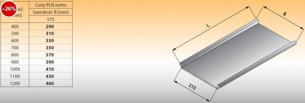 Płyta stołu przelotowego prostego lo 316 - 700x575 Lozamet