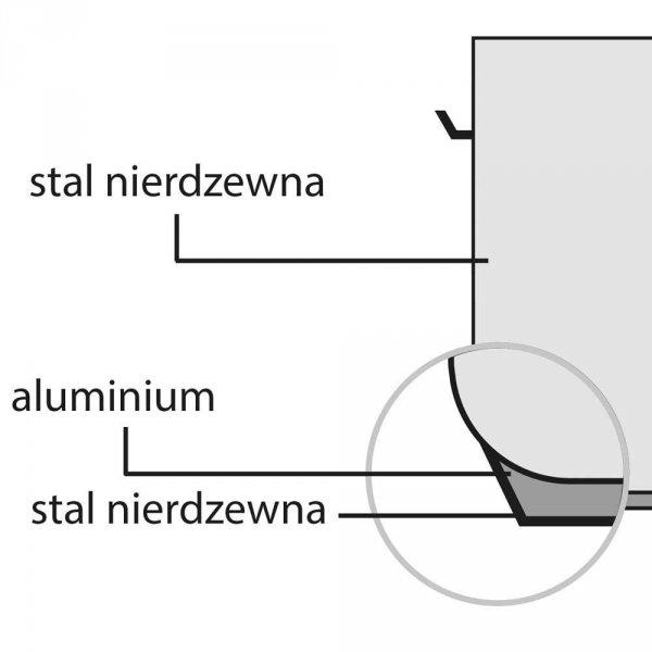 Garnek średni z pokrywką, stalowy, O 500 mm, V 62.8 l