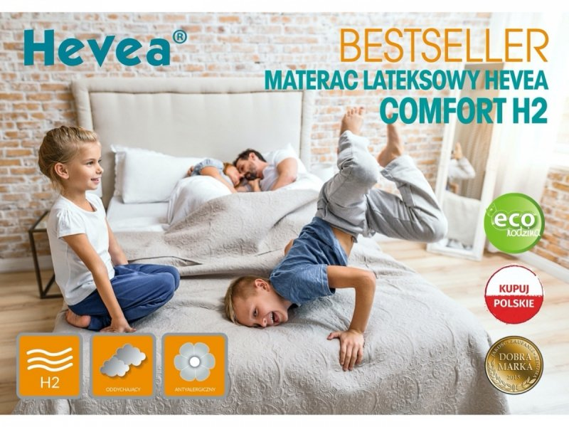 Materac lateksowy Hevea Comfort H2 - Aegis Natural Care