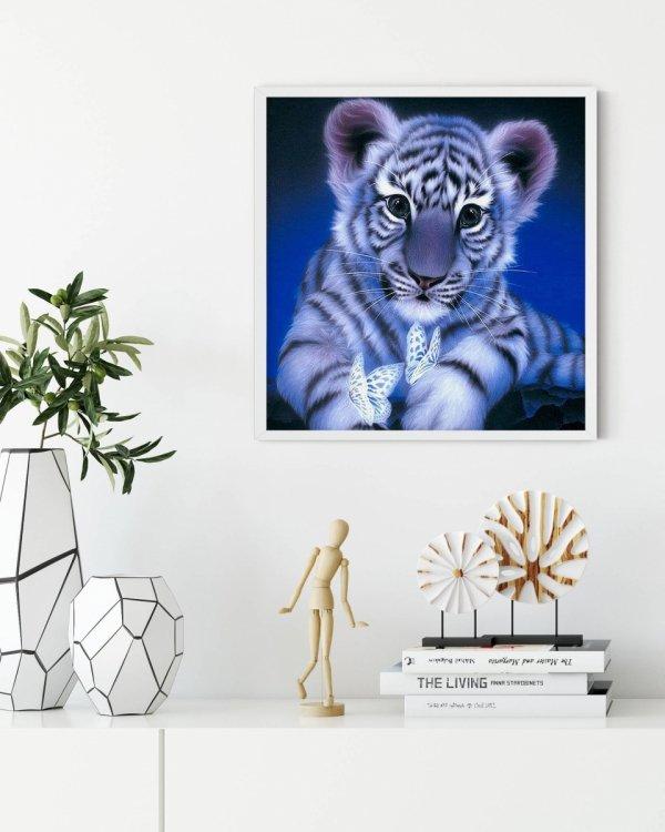 Haft Diamentowy Słodki Tygrysek 35x35 cm K