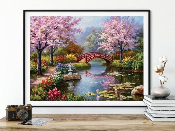 Haft Diamentowy Wiosenny Relaks 45x55 cm K