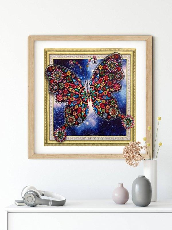 Haft Diamentowy Baśniowy Motyl 47x47 cm