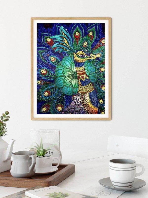 Haft Diamentowy Pawie Oko 30x40 cm