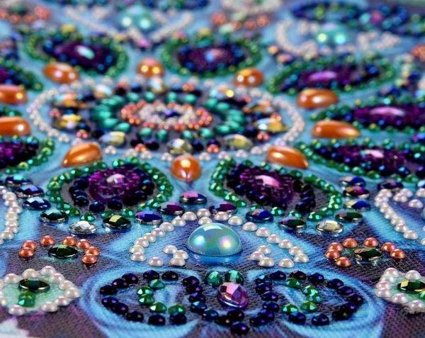 Haft Diamentowy Niebieska Mandala 30x30cm