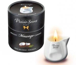 Plaisir Secret Kokos świeczka olejek do masażu
