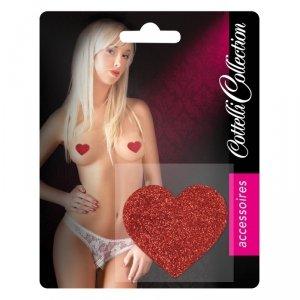 Nakładki na sutki Nipple Sticker czerwone Serca nasutniki