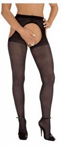 Rajstopy z otworkami Roxana Suspender Tights L/XL