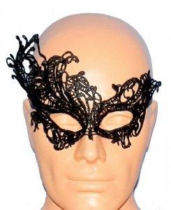 Koronkowa czarna opaska - maska na oczy