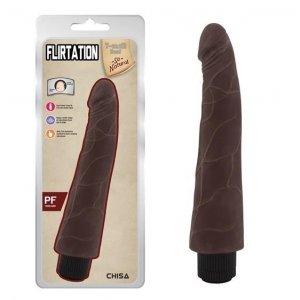 Flirtation wibrator z cyberskóry długi murzyński penis