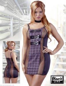Black Level erotyczna mini sukienka z suwakiem S
