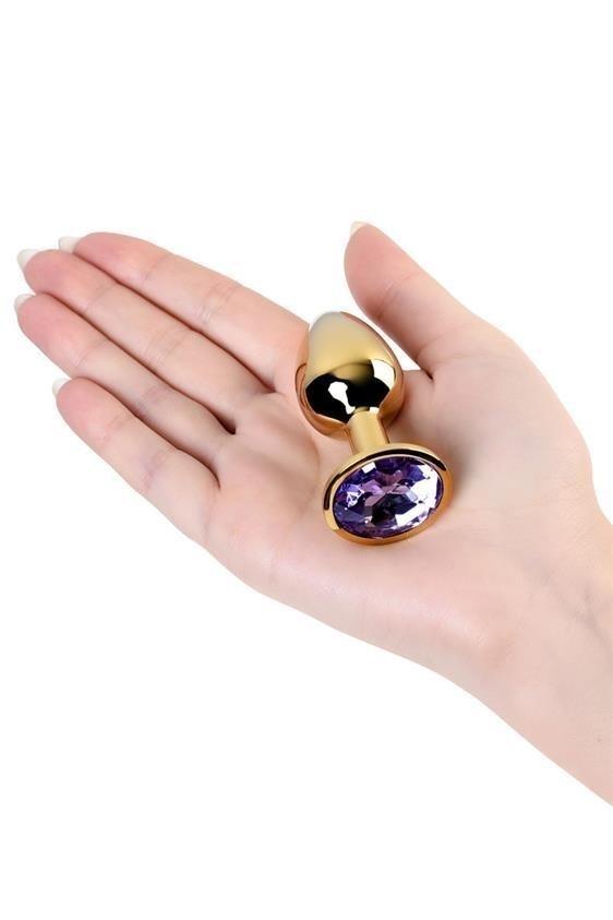 Metal Gold klasyczna mała wtyczka analna na ręce