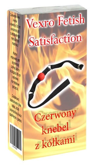 Knebel z kółkami Vexro Fetish Satysfaction czerwony