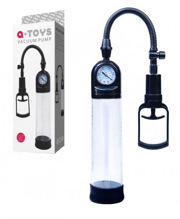 A-Toys Pompka erekcyjna z manometrem Vacuum Pump Black