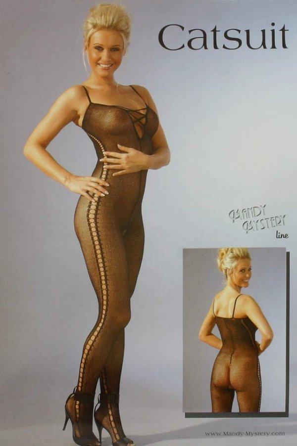Seksowne Body Catsuit Black S/M