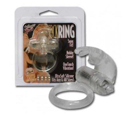 CockRing Rabbit wibrujący erekcyjny ring na penisa