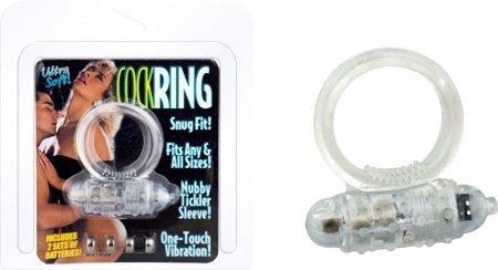 CockRing Clear wibrujący erekcyjny ring na penisa