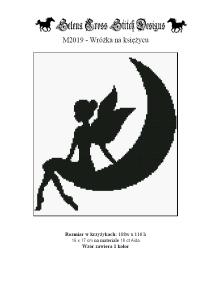 Wzór do haftu M2019 - Wróżka na księżycu