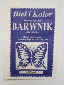 Barwnik - Biel i Kolor - granatowy