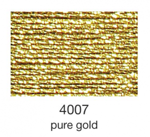 mulina Madeira Metallic 4-pure gold 4007