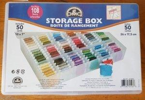 pudełko - organizer DMC z bobinkami
