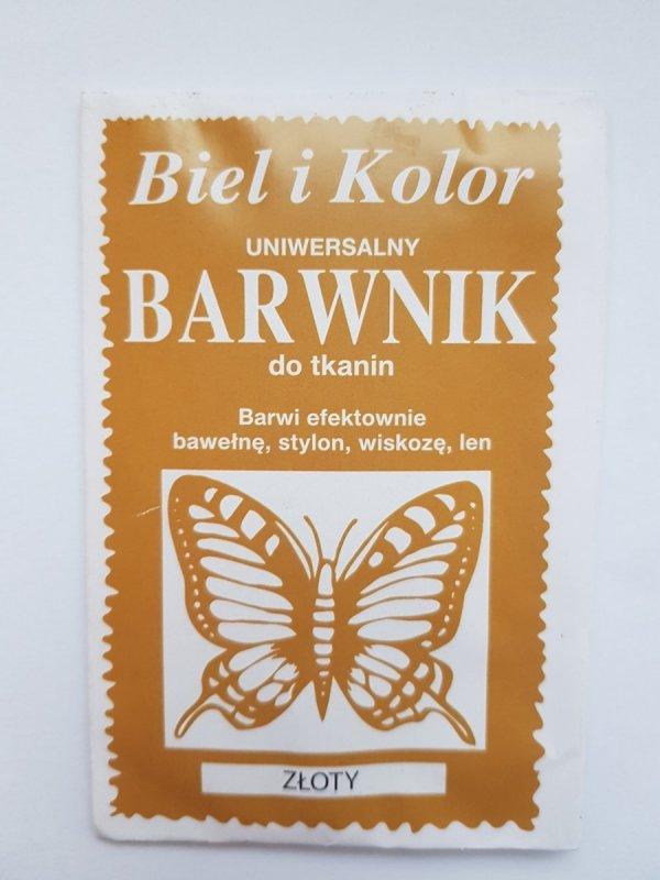 Barwnik - Biel i Kolor - złoty