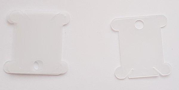Bobinki - białe transparentne