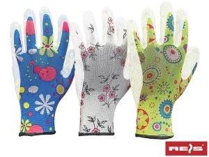 Rękawice ogrodowe damskie PU R-9 3 pary