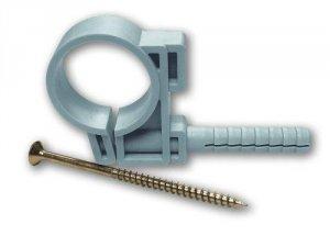Uchwyt plastikowy boczny z kołkiem na rurę 16 -5szt