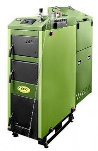 SAS ECO 5.0 58kW z podajnikiem tłokowym na miał węglowy, eko-groszek, pelety i zastępczym rusztem wodnym