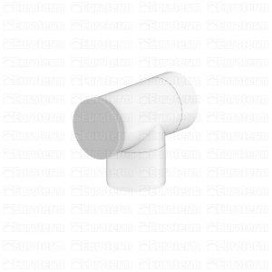 Trójnik 60/100 dwuścienny z deklem biały Spiroflex