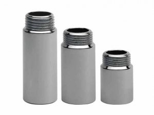 Przedłużka chromowana 1/2 10mm - 1cm chrom