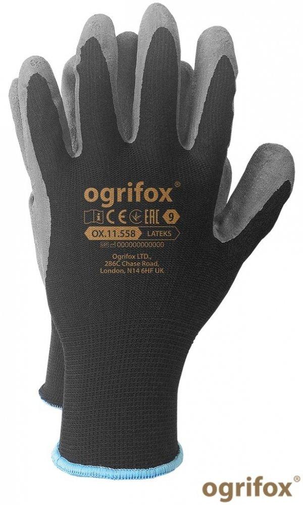 Rękawice ochronne mocne z lateksem 9