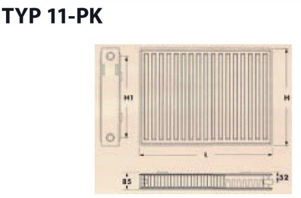 Grzejnik panelowy Diamond C11 600x800