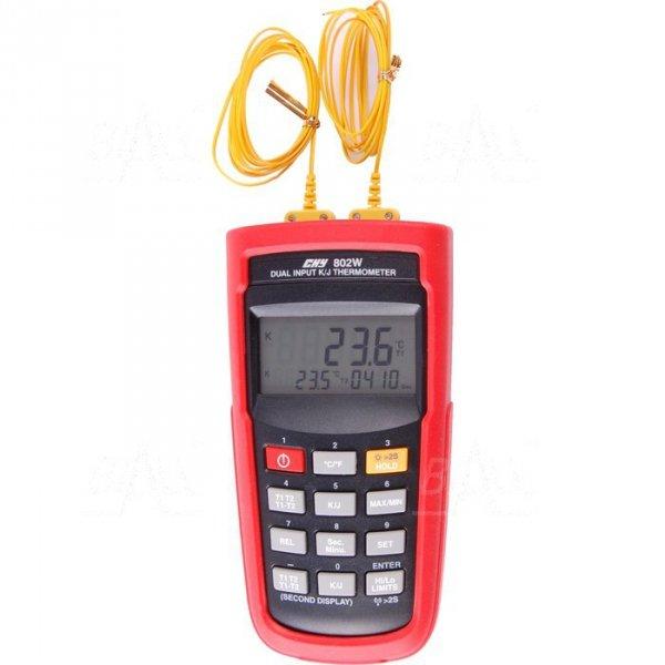 CHY802W Termometr 2 kanały kl. 0,05% -200 do 1370°C typ K ,odczyt zdalny USB