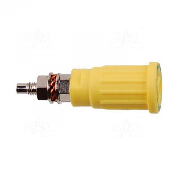 Gniazdo panelowe bezp. 4mm wcisk. SEPB1781-GY 32A CATII 1,5kV żółto-zielony