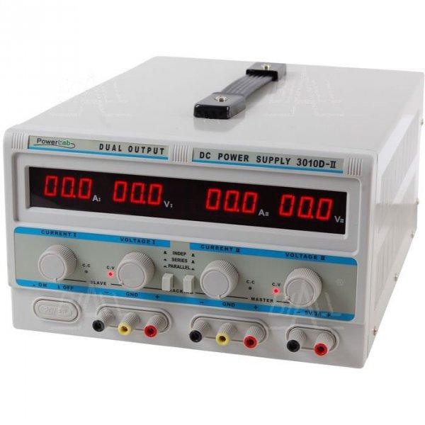 Zasilacz lab 3010D-II 2x30V/10A 5V/3A DC LED PowerLab