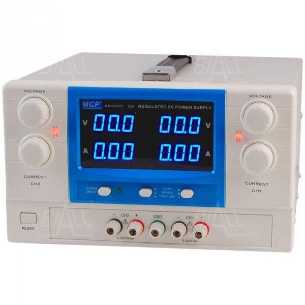 Zasilacz lab QD305 DC 2x30V/5A do pracy ciągłej MCP