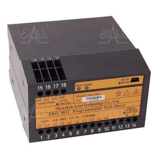 Przetwornik program 3-faz PRO M31 ARTEL U/I/P/Q/Hz/PF