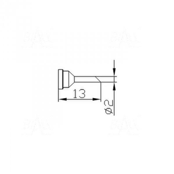 Grot 657 Cylinder 2mm ścięty do LF2000/LF8800/LF853D