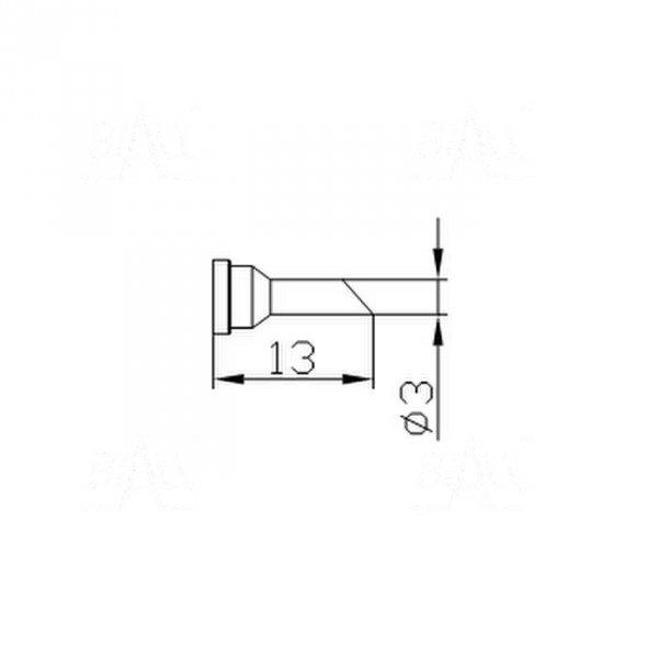 Grot 658 Cylinder 3mm ścięty do LF2000/LF8800/LF853D