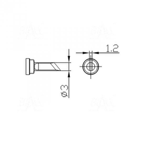Grot 666 nóż 3mm do SMD  LF2000/LF8800/LF853D