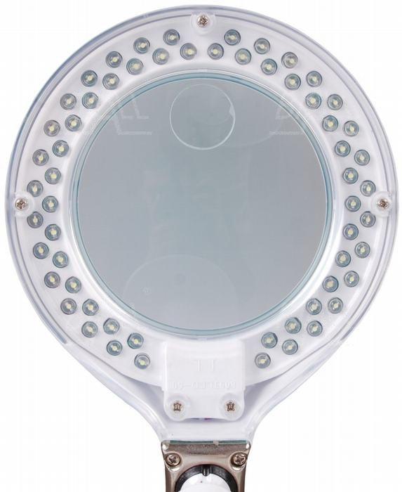 Lampa biurkowa LED z lupą (96mm) 8093LED 3D+12D 5W