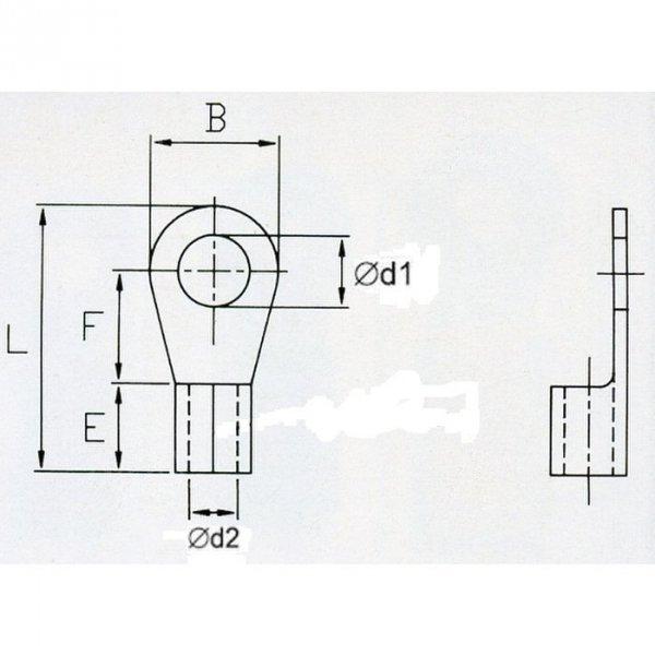 KON5-5 Końc. oczkowa nieizol. 4-6mm2/M5 100szt