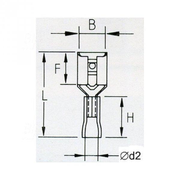 KFR48x05 Konektor żeński izolowany 100szt