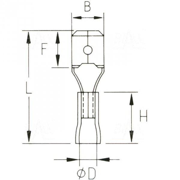 KMY63x08 Konektor męski izolowany 100szt